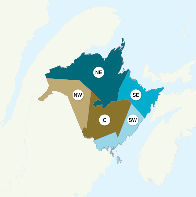 Province of New Brunswick Economic Regions